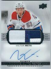 17-18 Upper Deck Premier Victor Mete Acetate Rookie Auto Patch /299 Canadiens