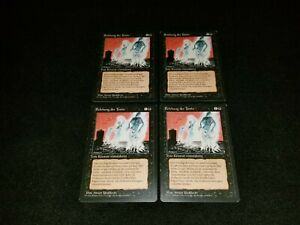MTG 4x Revised black uncommon MP German FBB Animate Dead - ships w/ tracking