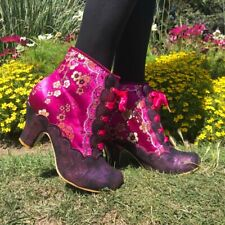 Irregular Choice 'Rumor Has It' (A) Mid Heel Lace Up Embroidered Ankle Boots