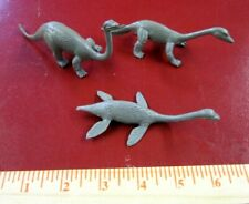 3 obscure rubbery plastic dinosaur model toys