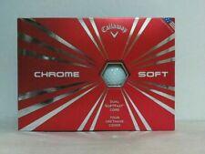 New Callaway Chrome Soft 12 Golf Balls, White $52.16