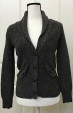J.Crew Womens Wool Mohair Angora Cardigan Sweater Button Front Gray Size XS