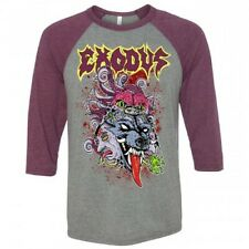 EXODUS Official Toxic Wolf 3/4 Sleeve Raglan Metal Baseball T-Shirt Size XL NEW