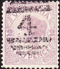 Victoria - 1886 - 2 Pence Violet Queen Victoria Issue #162 w/ Well Struck Cancel