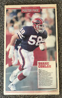 Vintage Buffalo Bills Poster 1991 Shane Conlan Buffalo Evening News