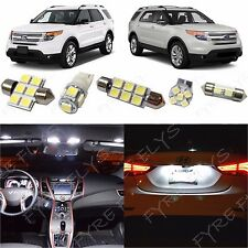 11x White LED lights interior package kit for 2011-2015 Ford Explorer FX2W