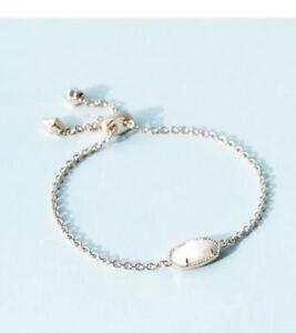 Kendra Scott Elaina Rose Gold Bracelet White Pearl PopSugar Must Have NEW w/ tag