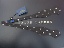 Polo RALPH LAUREN Silk Black Crest Shield Bow Tie Made In Italy