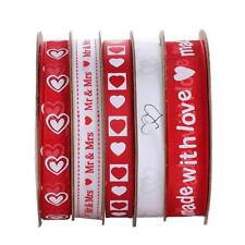 25 M / Roll Printed Love / Mr.Mrs Ribbon Set for DIY Craft Accessory Making