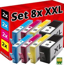8x DRUCKER PATRONEN für HP-364 DESKJET 3070A 3520 3522 3524 OFFICEJET 4620 4622