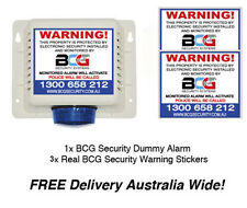 Dummy Alarm - Realistic Security System Fake ALARM With Warning Decals - CCTV