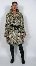 OLYMPIA GORGEOUS CHEETAH CAT PRINT SPOTTED FAUX FUR DRESS SWING COAT JACKET~M