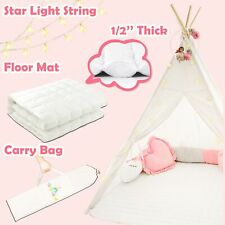 Tiny Land TP0003 Large Cotton Canvas Kids Teepee Tent