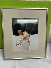 Arnold Palmer autographed signed framed picture 15.5x13