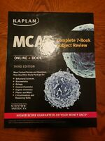 Kaplan MCAT Review Books, 3rd edition, WITH flashcards, 3rd edition
