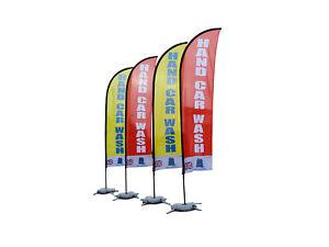 2 x Car Wash Flag (1 Yellow 1 Red - 300cm x 65cm)