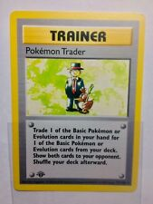 pokemon base set 1st Edition Shadowless Pokemon Trader Trainer 77/102 GEM MINT!