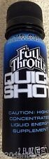 2007 FULL THROTTLE Quick Shot Energy Drink 2oz Blue Agave RARE Rockstar Monster