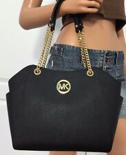 MICHAEL KORS TASCHE/BAG JET SET TRAVEL LG CHAIN TOTE Saffiano Leder black/schwar