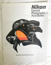 Nikon General- Photographic Accessories,Product Brochure