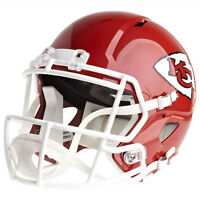 KANSAS CITY CHIEFS RIDDELL SPEED NFL FULL SIZE REPLICA FOOTBALL HELMET