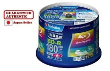 F/S 25GB BD-R Blu ray 6X Speed Blank Media Blueray Printable Spindle 50 Verbatim