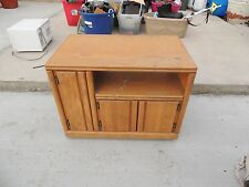 Small Entertainment Center TV Light Colored Wood CD/DVD Cabinet LOCAL PICKUP