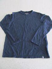 Cloudveil 100% Merino Wool Base Layer  Mens Small Long Sleeve Navy Blue Dark