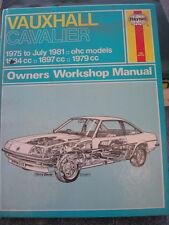 Haynes Owners Workshop Manual - Vauxhall Cavalier 1975 to 1981