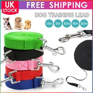 Dog Training Lead Pet Puppy Leash Collar Harness Long Strong Rope 3M 10M 15M 20M