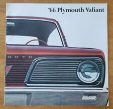 1966 Plymouth Valiant sales brochure catalog booklet pamphlet folder Peoria IL