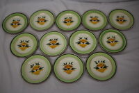 """Set of 12 Hand Painted Stangl Pottery FLORETTE Flower Urn 5073 6"""" Bread Plates"""
