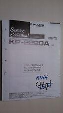 Pioneer kp-2220a service manual original repair book stereo tape player deck
