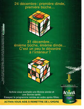 Publicité Advertising 078  2014   yaourt Activia Danone bifidus