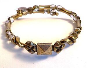 Bracelet Alex & Ani VTG 66 Charms W/Glass Beads  B129