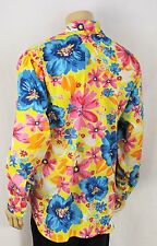 Mens Vtg 70s Style Funky Party Stag Crazy Fresh Prince Retro Festival Shirt M/L