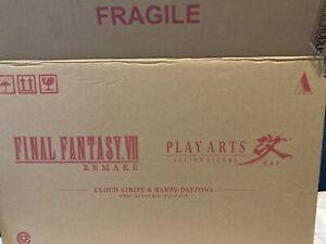Brand New SEALED FFVII Remake Cloud Strife & Hardy Daytona Play Arts Kai Figure