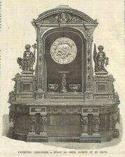 PARIS EXPOSITION UNIVERSELLE / BUFFET SCULPTE / GRAVURE ENGRAVING 1867