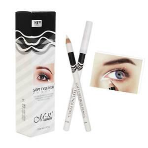 12PC White Eyeliner Pencil Eye Liner Waterproof Long Lasting Eye Brighten mt