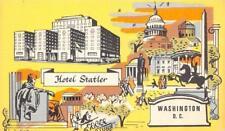 Washington, D.C.    HOTEL STATLER     Roadside c1950's Artist's View Postcard