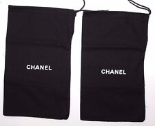 CHANEL Shoe Bags Dust Covers (2) Draw String 100% Authentic