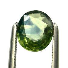 0.91 carat 6.5x5.5mm Oval Bi-Color Australian Green Parti Sapphire Gems, OPS30