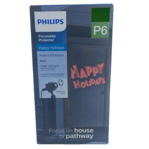 Philips LED Focusable Projector Happy Holidays Christmas Pathway Light Red