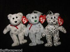 3 Lot -  Jingle Bears - Sparkly - One has green nose - LQQK!!