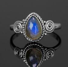 Teardrop Labradorite Gemstone Ring Branded Jewellery 925 Sterling Silver BoxGift