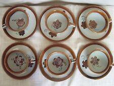 El Palomar Ken Edwards Cups Saucers Set of 6 Mexican Pottery