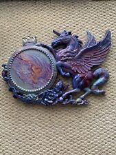 Vintage Hollywood Regency Pegasus Clock. Has Been Repurposed Into Wall Art.