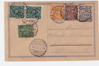 german davenhof holstein 1923 multi  stamps card ref r15463