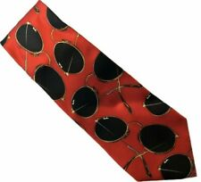 Ray-Ban Necktie Made in Italy Novelty Silk Tie Bausch & Lomb Aviator Sunglasses