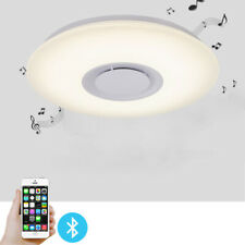 New ListingDimmable Light Fixtures Ceiling Flush Mount Colorful Lamp+Bluetooth Speaker 24W